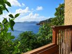 Tucked on the Bovacoap Point Bluff with privacy and ocean views