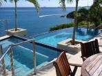 22-View of Caribbean Sea overlooking pool deck dining area