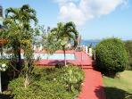 Pathway to private Sunset Ridge Villa Pool