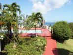 Pathway to private Sunset Ridge Villas Pool