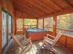 Screened Deck at Picture Perfect Hideaway
