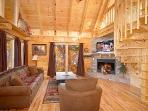 Living Room with Fireplace at The Great Outdoors