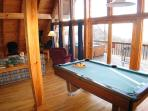 Pool Table at Cozy Mountain View