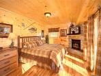 Main Level Bedroom with King Bed at The Great Outdoors