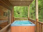 Hot Tub at Big Bear Cub House