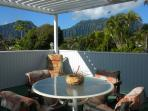 Deck overlooking Koolau Mountain range