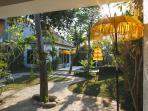 exotic garden and balinese umbrella