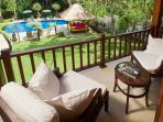 3. Villa Mako - Bali bedroom terrace overlooking the pool