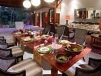 11. Villa Mako - Dinner setting