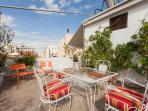 Terrace with views of the Acropolis and panoramic views of Athens