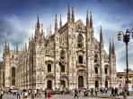 Milan - 15 minutes by car - trains every 20 minutes from Lissone and Monza