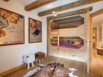Bunk room for two or four children - beds are 140cm wide