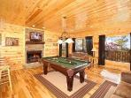 First Floor Game Room with Pool Table at Summit View
