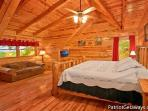 Lofted Bedroom with King Bed at Summit View