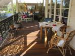 Afternoon tea on the verandah