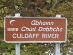 Culdaff River flows through the beautiful village of Culdaff.