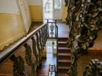 House inside, 105 years-old, staircase
