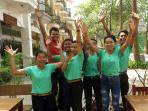 Meet our friendly young team!! We are excited to host you and meet people from all over the world.