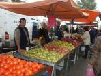 Our local fruit and vegetable market. Bargain prices from the producers. Every Saturday!