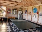 Games room with table tennis, table football and darts