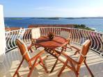 Blue horizon view from balcony..