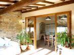 View from the loggia to the kitchen