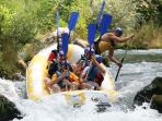 Rafting on the river Cetina (this is my family in the boat), approximately 20 min driving