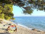 Beach approximately 1,5 km far from villa
