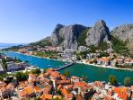View from the fortress in Omiš, 2km from villa