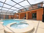 30ft x 15ft pool with 8ft Spa. These are heated by GAS for an additional cost.