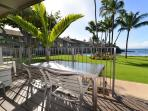 The #114 lanai, perfect for relaxing and dining