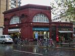 Gloucester Road Tube Station is less 5 minutes walk away (even in the rain).