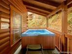 Hot Tub at Black Bear Lodge