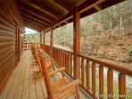 Deck at Black Bear Lodge
