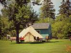 East Coast Glamping in picturesque Annapolis Valley, Nova Scotia. Vineyards, orchards, Bay of Fundy.