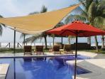 Awesome beachfront pool area!