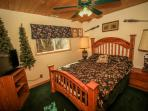 Bear room with Queen Bed in a Fishing & Tackle theme!