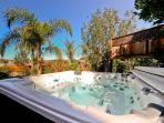 West Coast Villa I garden featuring our 100 plus jet hot tub