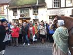 Tam festival, Ayr, Nov 2015 30mins from cottage. Free outside Burns performance