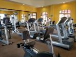 Full gym at the resort
