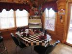 Dining Room with Juke Box at Rock Around The Clock