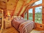 Lofted Bedroom Queen Bed at Wilderness Lodge