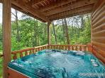 First Floor Deck with Jacuzzi at Wilderness Lodge