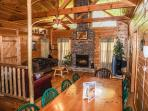 Living Room at Bearly In The Mountains