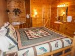 Main Level Bedroom at Bearly In The Mountains