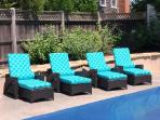 Relax pool side, pick a chaise! - 14 Hallett Lane Chatham Cape Cod New England Vacation Rentals