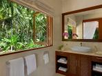 Bathroom with jungle view at guest bedroom upstair