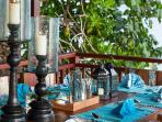Outdoor dining details