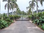 Gated entrance ensures privacy and security