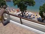 Terrace view of beach